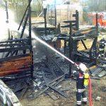 Feuer auf Bauspielplatz