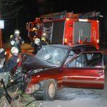 PKW brannte nach Verkehrsunfall