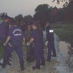 Deichverteidigung bei Elbhochwasser