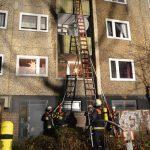 Feuer auf Balkon